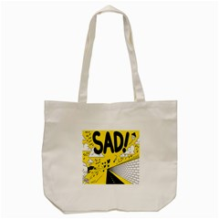 Have Meant  Tech Science Future Sad Yellow Street Tote Bag (cream) by Mariart