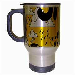 Have Meant  Tech Science Future Sad Yellow Street Travel Mug (silver Gray)
