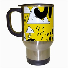 Have Meant  Tech Science Future Sad Yellow Street Travel Mugs (white) by Mariart
