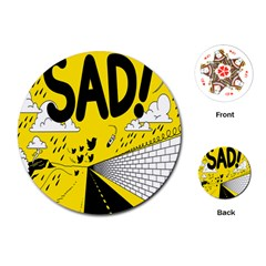 Have Meant  Tech Science Future Sad Yellow Street Playing Cards (round)  by Mariart