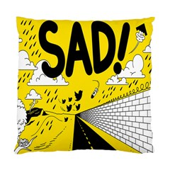 Have Meant  Tech Science Future Sad Yellow Street Standard Cushion Case (two Sides) by Mariart