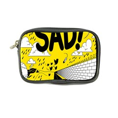 Have Meant  Tech Science Future Sad Yellow Street Coin Purse by Mariart