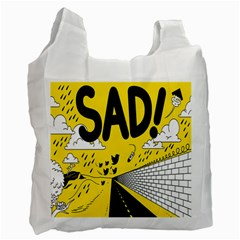Have Meant  Tech Science Future Sad Yellow Street Recycle Bag (one Side) by Mariart
