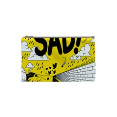 Have Meant  Tech Science Future Sad Yellow Street Cosmetic Bag (small)  by Mariart