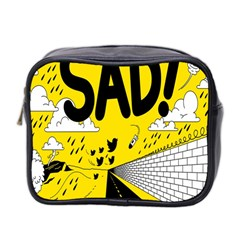 Have Meant  Tech Science Future Sad Yellow Street Mini Toiletries Bag 2 Side by Mariart