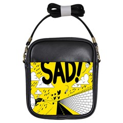 Have Meant  Tech Science Future Sad Yellow Street Girls Sling Bags by Mariart