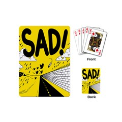 Have Meant  Tech Science Future Sad Yellow Street Playing Cards (mini)  by Mariart