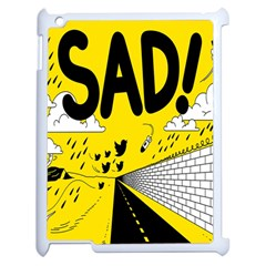 Have Meant  Tech Science Future Sad Yellow Street Apple Ipad 2 Case (white) by Mariart