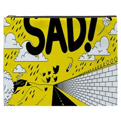 Have Meant  Tech Science Future Sad Yellow Street Cosmetic Bag (xxxl)  by Mariart