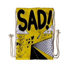 Have Meant  Tech Science Future Sad Yellow Street Drawstring Bag (small) by Mariart
