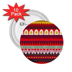 Fabric Aztec Red Line Polka Circle Wave Chevron Star 2 25  Buttons (10 Pack)