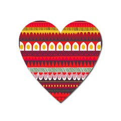 Fabric Aztec Red Line Polka Circle Wave Chevron Star Heart Magnet