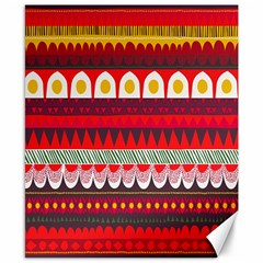 Fabric Aztec Red Line Polka Circle Wave Chevron Star Canvas 8  X 10