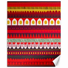 Fabric Aztec Red Line Polka Circle Wave Chevron Star Canvas 16  X 20   by Mariart