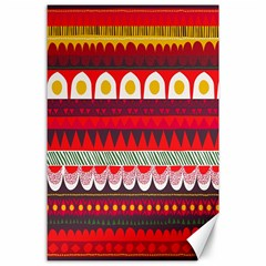 Fabric Aztec Red Line Polka Circle Wave Chevron Star Canvas 24  X 36