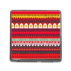 Fabric Aztec Red Line Polka Circle Wave Chevron Star Memory Card Reader (square)