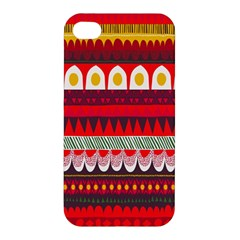 Fabric Aztec Red Line Polka Circle Wave Chevron Star Apple Iphone 4/4s Premium Hardshell Case by Mariart