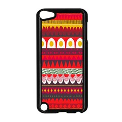 Fabric Aztec Red Line Polka Circle Wave Chevron Star Apple Ipod Touch 5 Case (black) by Mariart