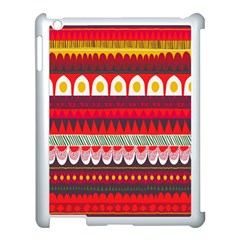 Fabric Aztec Red Line Polka Circle Wave Chevron Star Apple Ipad 3/4 Case (white) by Mariart