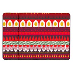Fabric Aztec Red Line Polka Circle Wave Chevron Star Samsung Galaxy Tab 8 9  P7300 Flip Case by Mariart