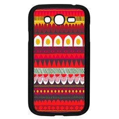 Fabric Aztec Red Line Polka Circle Wave Chevron Star Samsung Galaxy Grand Duos I9082 Case (black) by Mariart