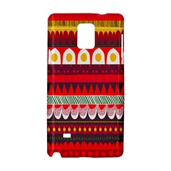 Fabric Aztec Red Line Polka Circle Wave Chevron Star Samsung Galaxy Note 4 Hardshell Case by Mariart