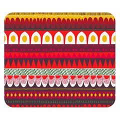 Fabric Aztec Red Line Polka Circle Wave Chevron Star Double Sided Flano Blanket (small)  by Mariart