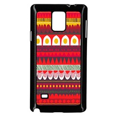Fabric Aztec Red Line Polka Circle Wave Chevron Star Samsung Galaxy Note 4 Case (black) by Mariart