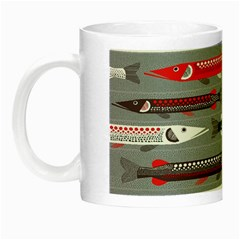 Fish Sea Beach Water Seaworld Animals Swim Night Luminous Mugs by Mariart