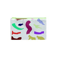 Plushie Color Rainbow Brown Purple Yellow Green Black Cosmetic Bag (xs) by Mariart