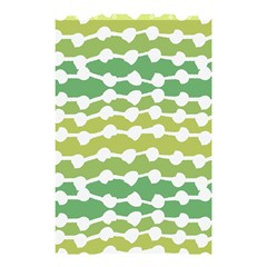 Polkadot Polka Circle Round Line Wave Chevron Waves Green White Shower Curtain 48  X 72  (small)  by Mariart