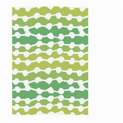 Polkadot Polka Circle Round Line Wave Chevron Waves Green White Large Garden Flag (two Sides) by Mariart