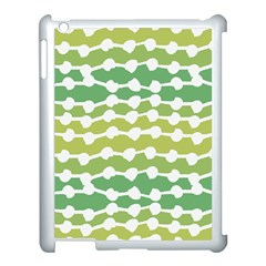 Polkadot Polka Circle Round Line Wave Chevron Waves Green White Apple Ipad 3/4 Case (white) by Mariart