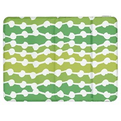Polkadot Polka Circle Round Line Wave Chevron Waves Green White Samsung Galaxy Tab 7  P1000 Flip Case by Mariart