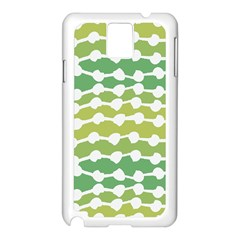 Polkadot Polka Circle Round Line Wave Chevron Waves Green White Samsung Galaxy Note 3 N9005 Case (white) by Mariart