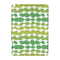 Polkadot Polka Circle Round Line Wave Chevron Waves Green White Galaxy Note 1 by Mariart