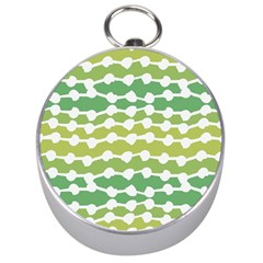 Polkadot Polka Circle Round Line Wave Chevron Waves Green White Silver Compasses by Mariart