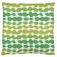 Polkadot Polka Circle Round Line Wave Chevron Waves Green White Large Flano Cushion Case (one Side) by Mariart