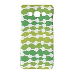 Polkadot Polka Circle Round Line Wave Chevron Waves Green White Samsung Galaxy A5 Hardshell Case  by Mariart