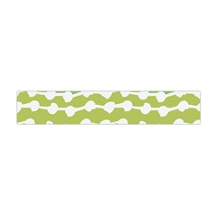 Polkadot Polka Circle Round Line Wave Chevron Waves Green White Flano Scarf (mini) by Mariart