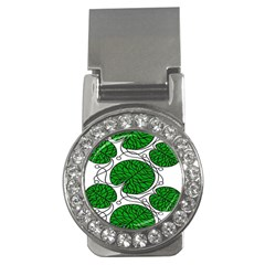 Leaf Green Money Clips (cz)  by Mariart