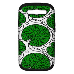 Leaf Green Samsung Galaxy S Iii Hardshell Case (pc+silicone) by Mariart