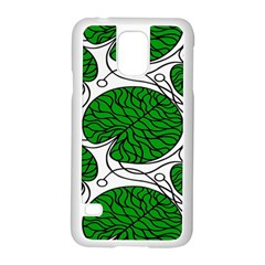 Leaf Green Samsung Galaxy S5 Case (white) by Mariart