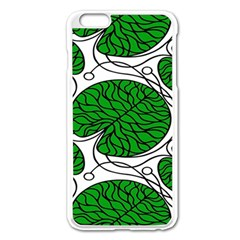 Leaf Green Apple Iphone 6 Plus/6s Plus Enamel White Case by Mariart