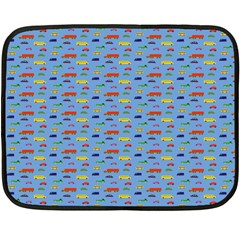 Miniature Car Buses Trucks School Buses Double Sided Fleece Blanket (mini)  by Mariart