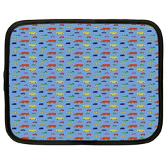 Miniature Car Buses Trucks School Buses Netbook Case (xl)  by Mariart