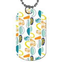 Pebbles Texture Mid Century Dog Tag (one Side) by Mariart