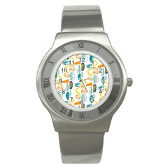 Pebbles Texture Mid Century Stainless Steel Watch by Mariart