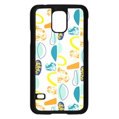 Pebbles Texture Mid Century Samsung Galaxy S5 Case (black) by Mariart