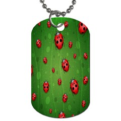 Ladybugs Red Leaf Green Polka Animals Insect Dog Tag (one Side) by Mariart